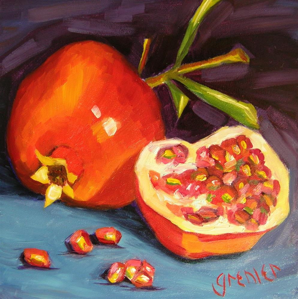 """Pomegranate"" original fine art by jean grenier"