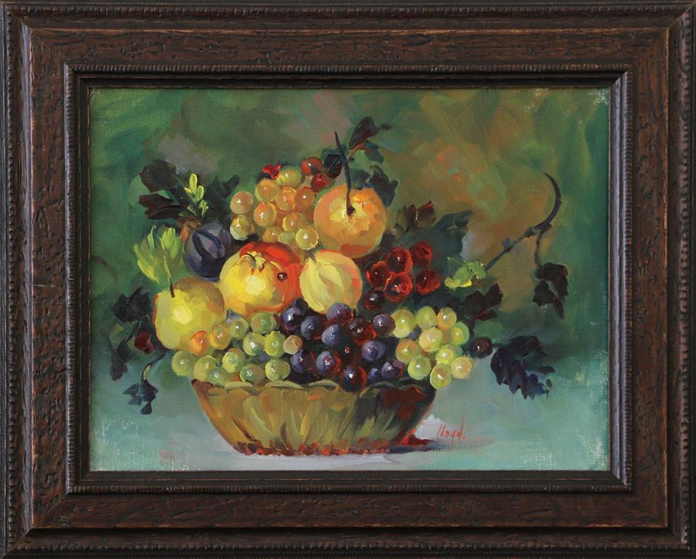 """Basket of Fruit"" original fine art by Diane Lloyd"