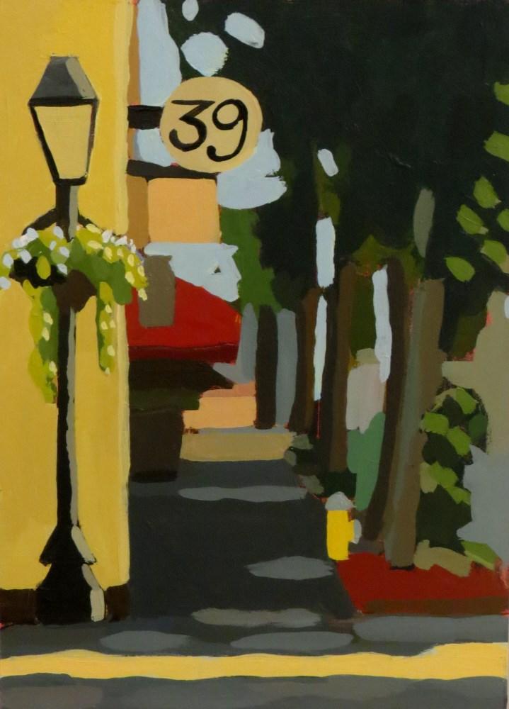 """Charleston Street"" original fine art by Joan Wiberg"