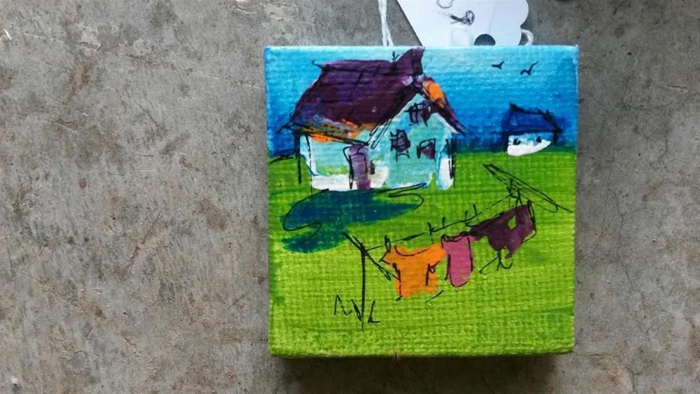 """""""Itty Bitty Homestead"""" original fine art by Terri Einer"""