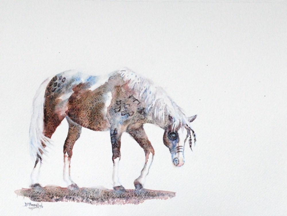 """hunting pony"" original fine art by Vicki Wood"