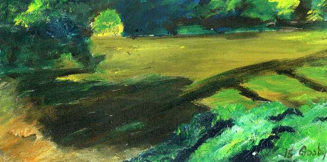 """Chasing Morning Shadows"" original fine art by Donna Crosby"