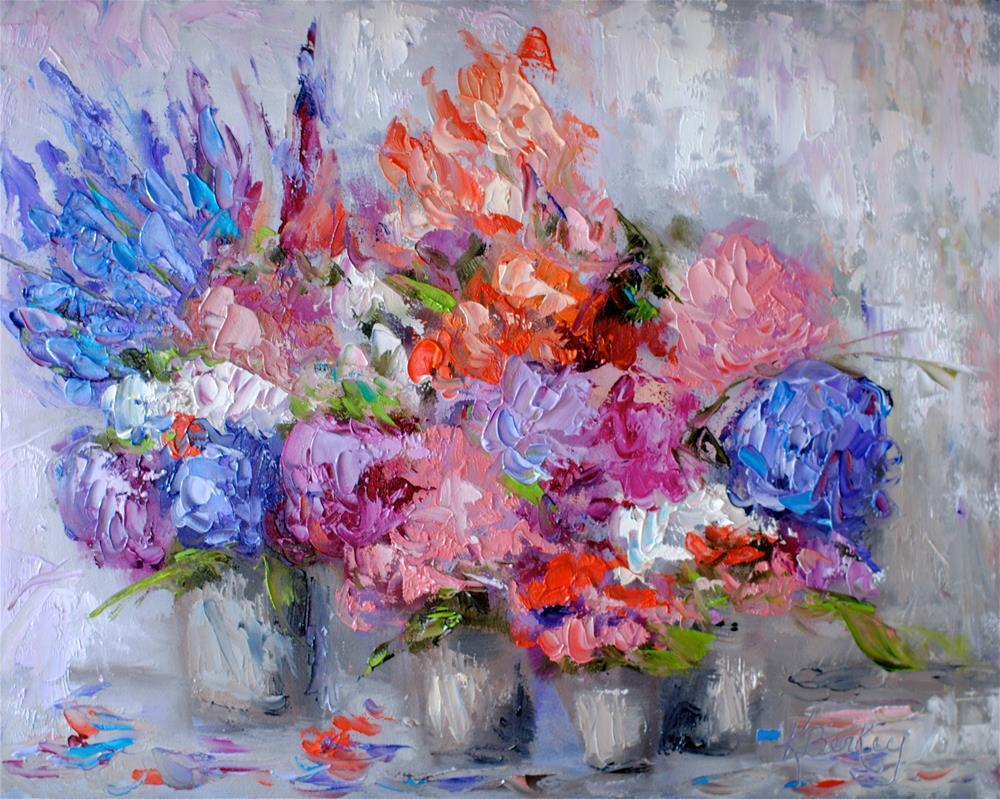 """""""Market Flowers 2"""" original fine art by Kelly Berkey"""