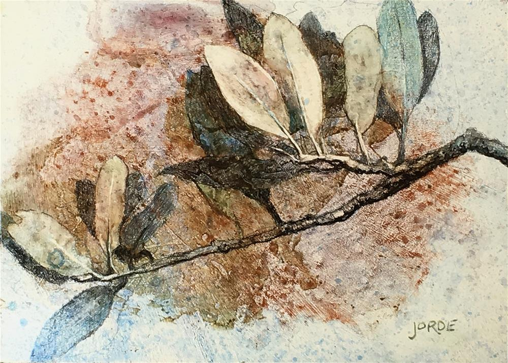 """Live Oak Twig"" original fine art by Robyn Jorde"