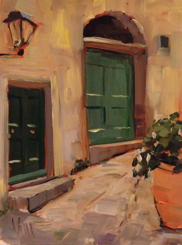 """#171 Cinque Terre, Italy #2"" original fine art by Patty Voje"