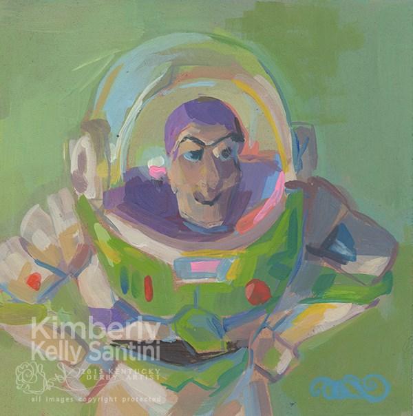 """""""Buzz Lightyear, Toy #7"""" original fine art by Kimberly Santini"""