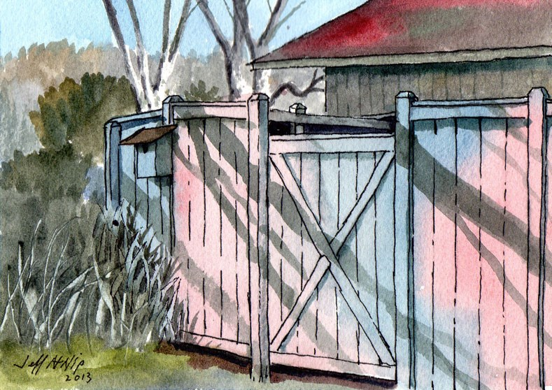 """The Goat Pen"" original fine art by Jeff Atnip"