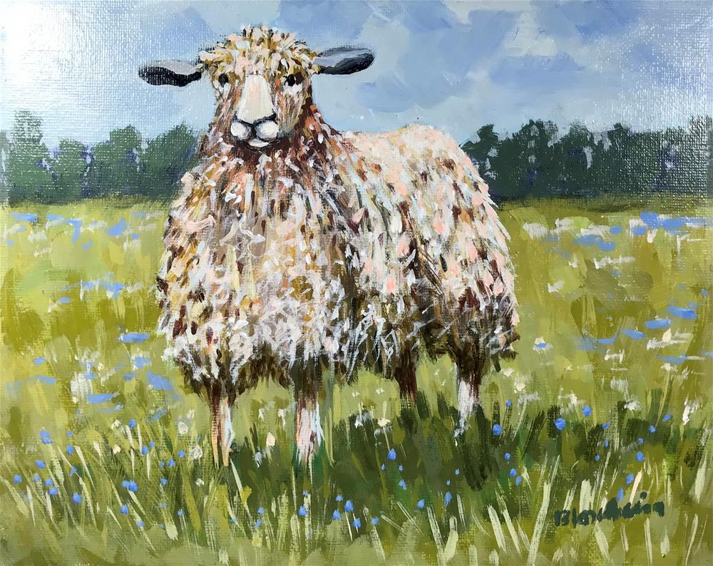 """Ewe"" original fine art by Linda Blondheim"