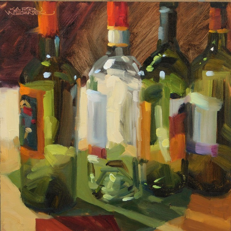 """Uncorked"" original fine art by Karen Werner"