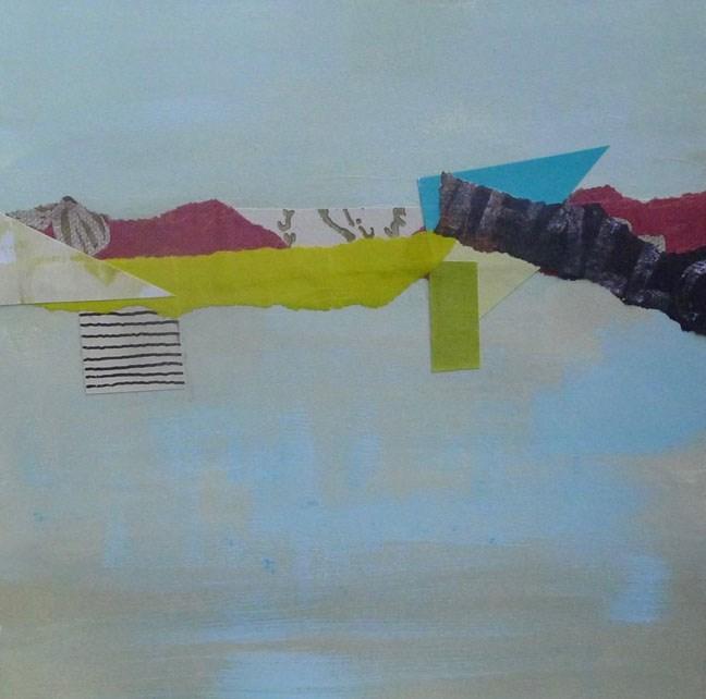 """COLLAGE No. 21"" original fine art by Linda Popple"