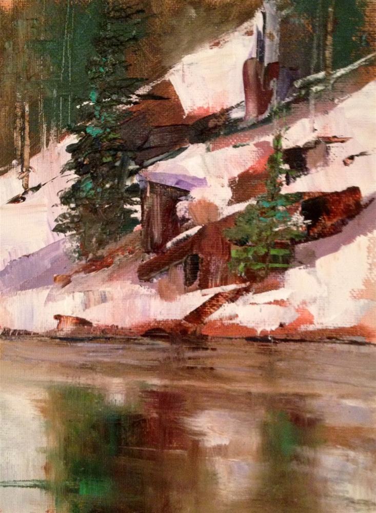 """Still Waters, 6x8"" original fine art by Ann Feldman"