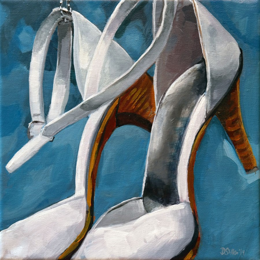 """1002 It's shoe time"" original fine art by Dietmar Stiller"