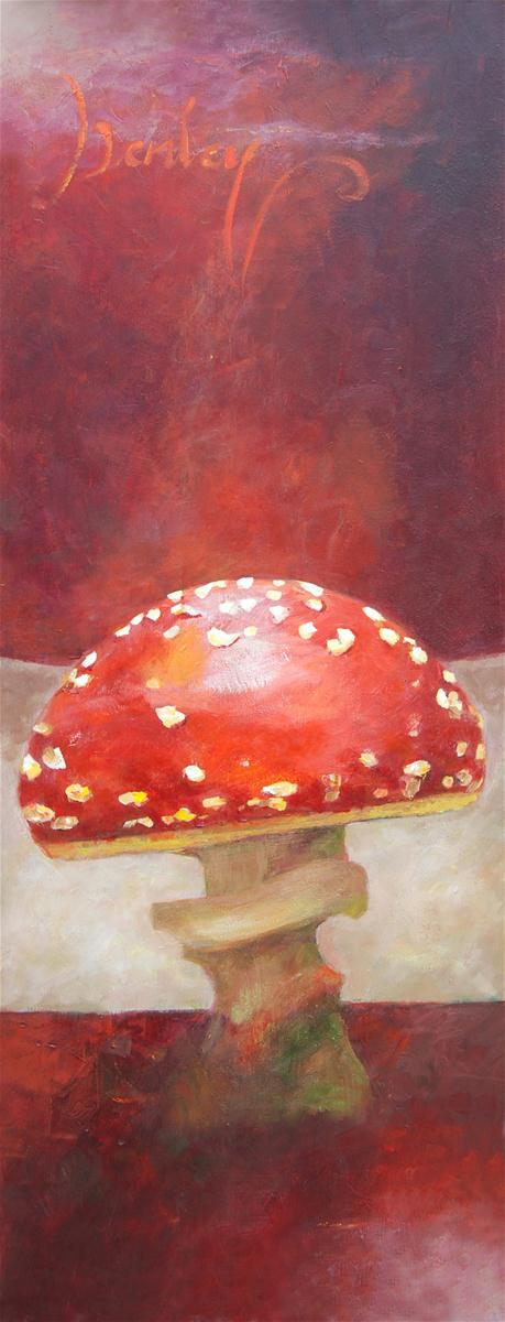 """Mushroom"" original fine art by Denise Henley"