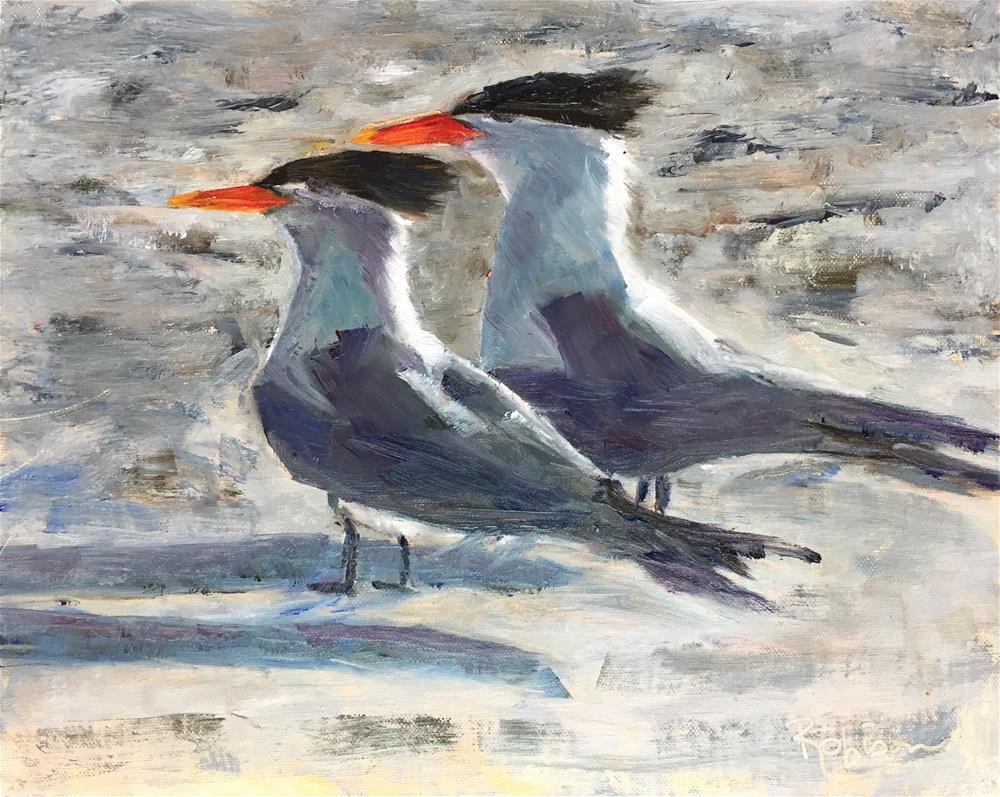 """Shore Birds"" original fine art by Renee Robison"