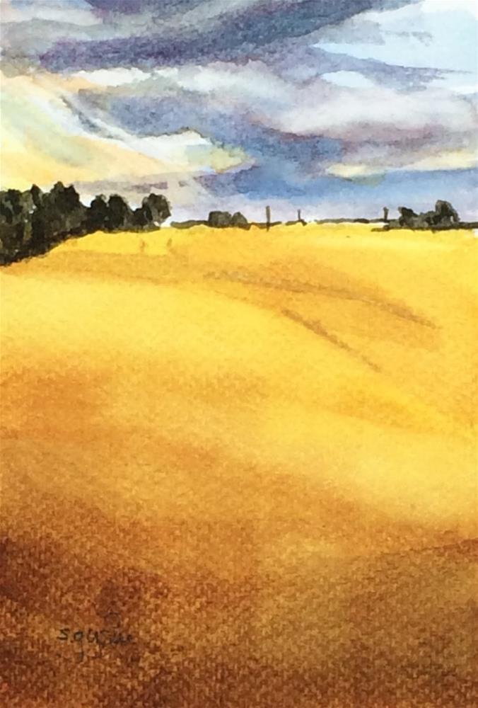"""Osterlen Wheat Field"" original fine art by Suzanne Gysin"