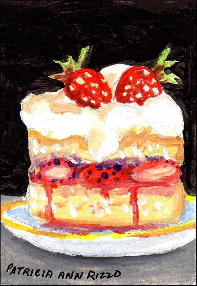 """Strawberry Shortcake"" original fine art by Patricia Ann Rizzo"