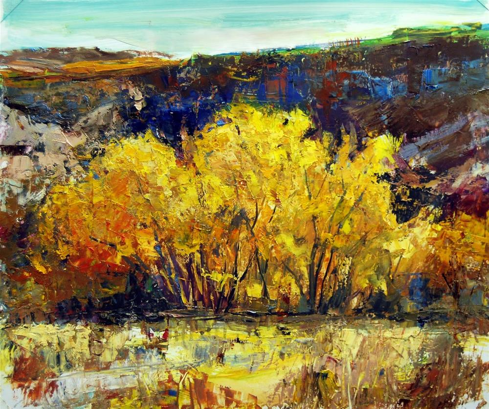 """""""Fall at Ghost Ranch, NM"""" original fine art by Julie Ford Oliver"""