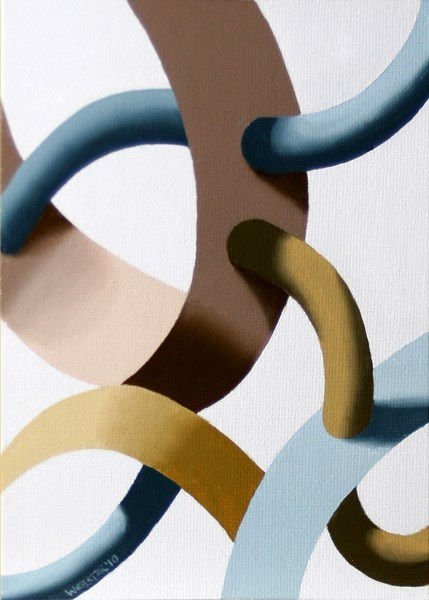 """""""Mark Webster - Biomechanical Abstract Geometric Oil Painting 3"""" original fine art by Mark Webster"""