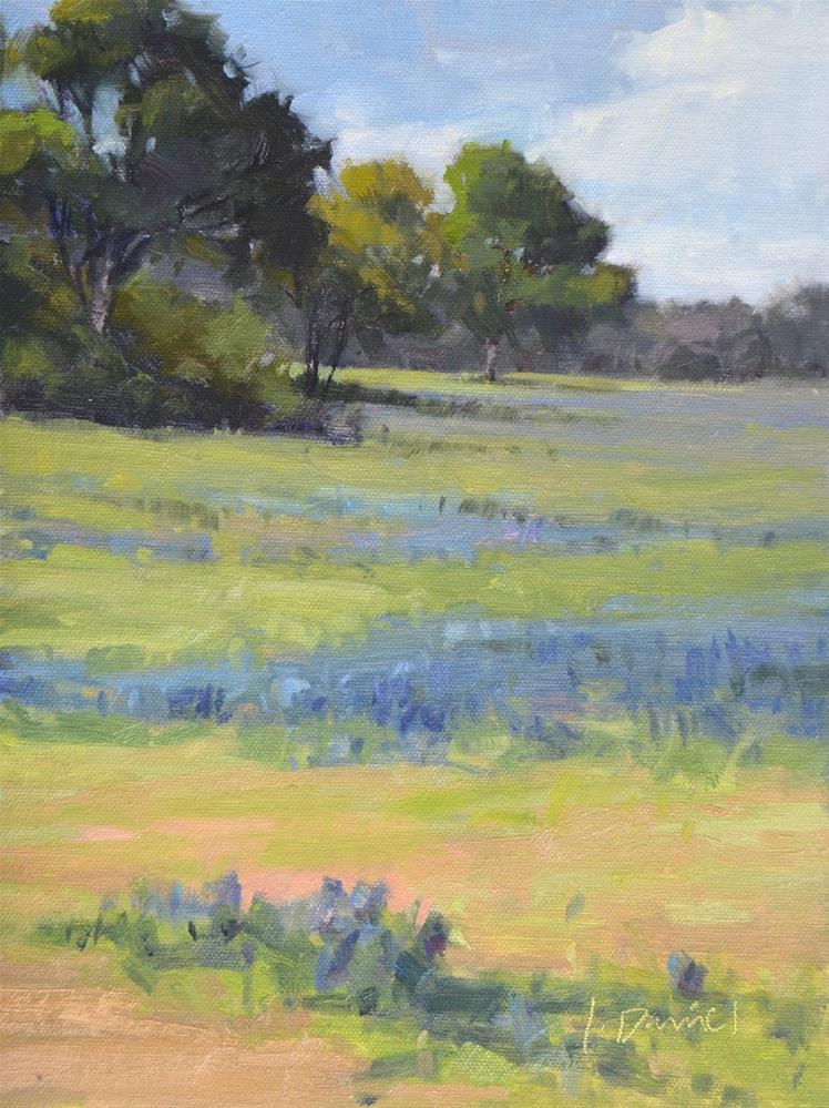 """""""Blue Meadow"""" original fine art by Laurel Daniel"""