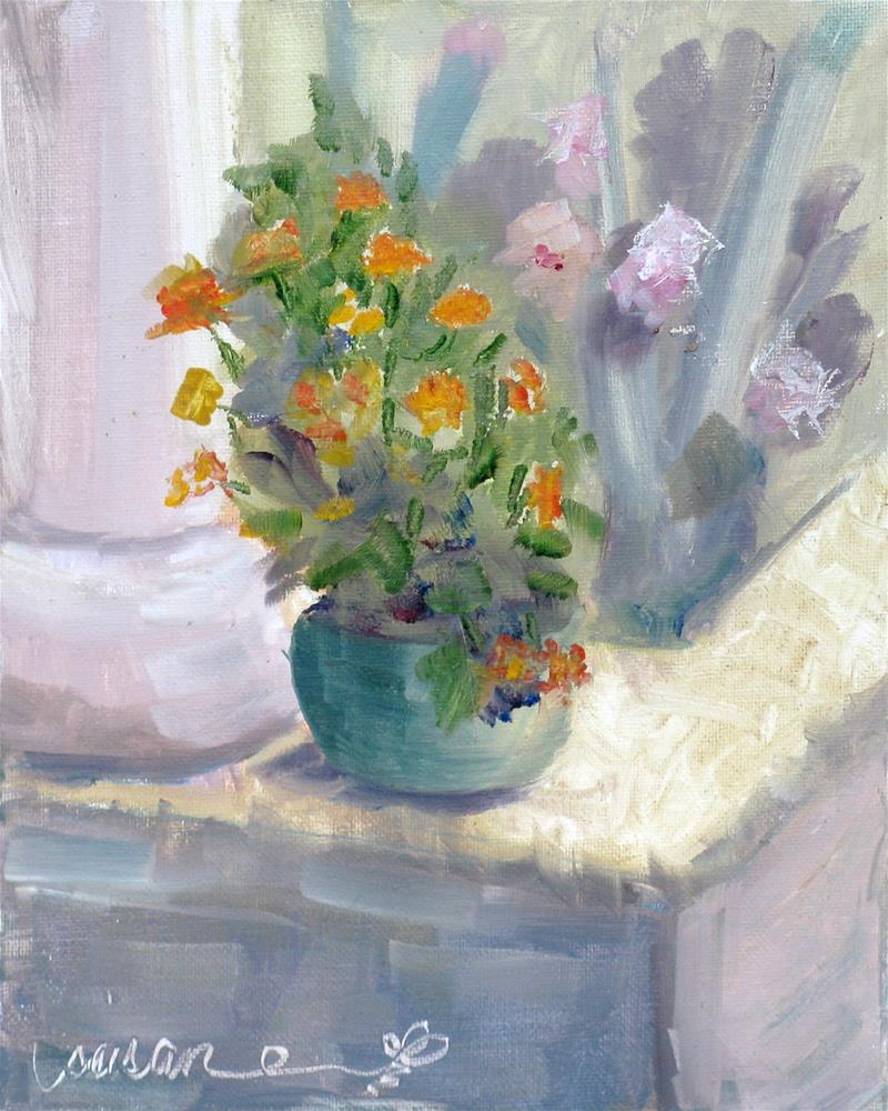 """By the Koi Pond"" original fine art by Susan Elizabeth Jones"