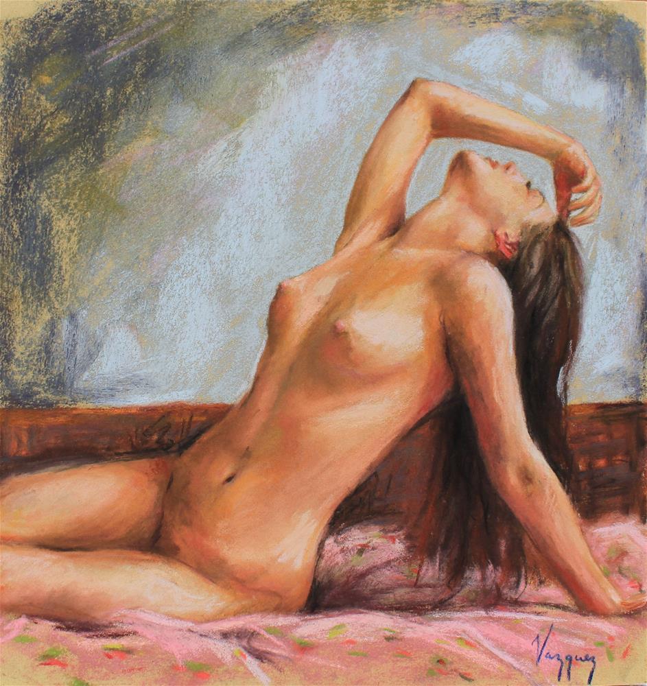 """""""posing nude"""" original fine art by Marco Vazquez"""