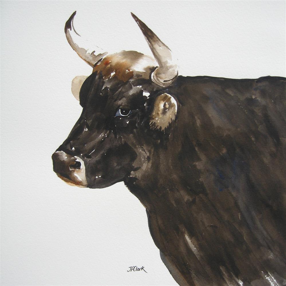 """Tycoon"" original fine art by Judith Freeman Clark"