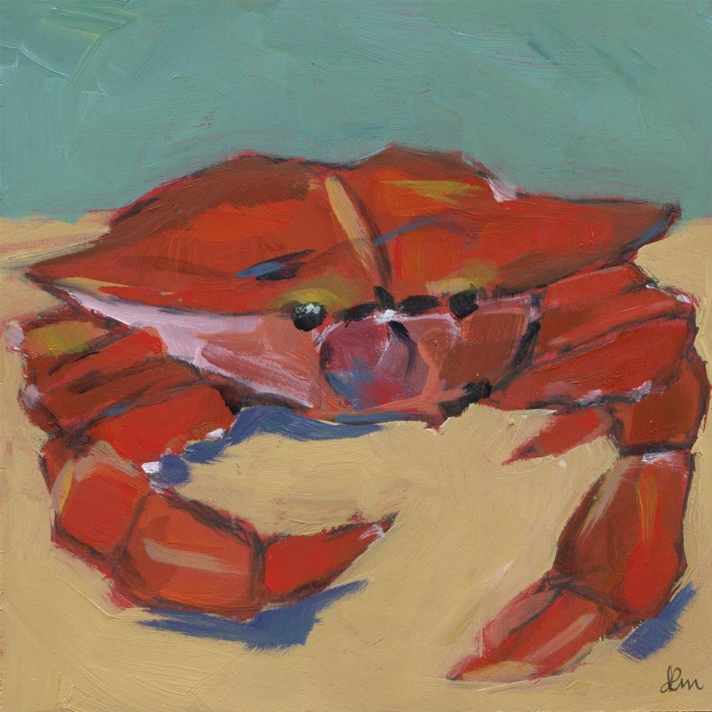 """Crab Feast (#474)"" original fine art by Debbie Miller"