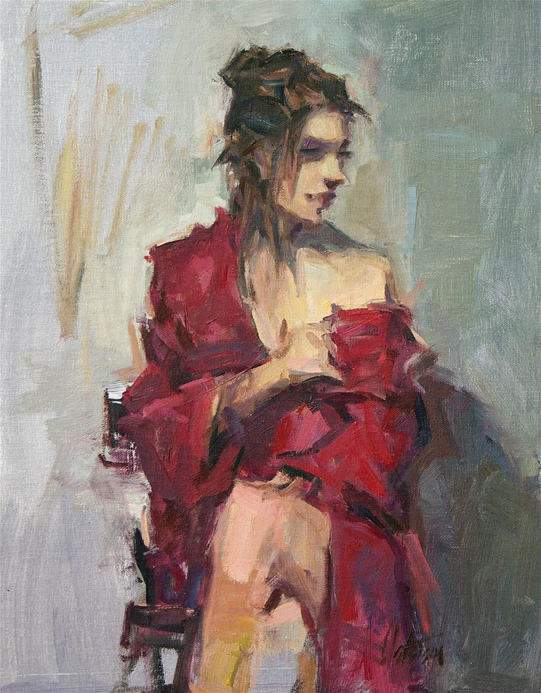"""Red Robe"" original fine art by Mike Peterson"