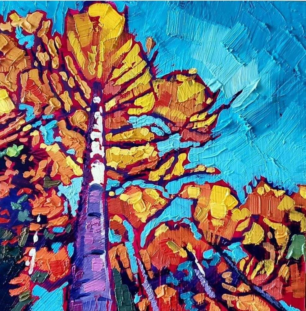 """Peak Color"" original fine art by Bhavna Misra"