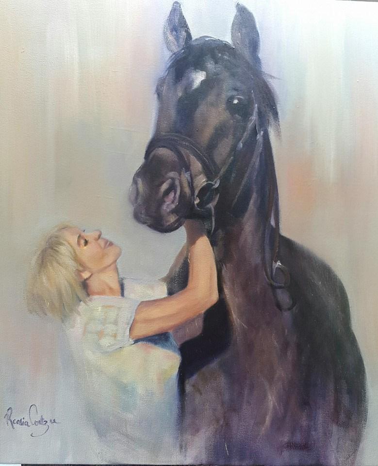 """""""Madeleen"""" original fine art by Rentia Coetzee"""