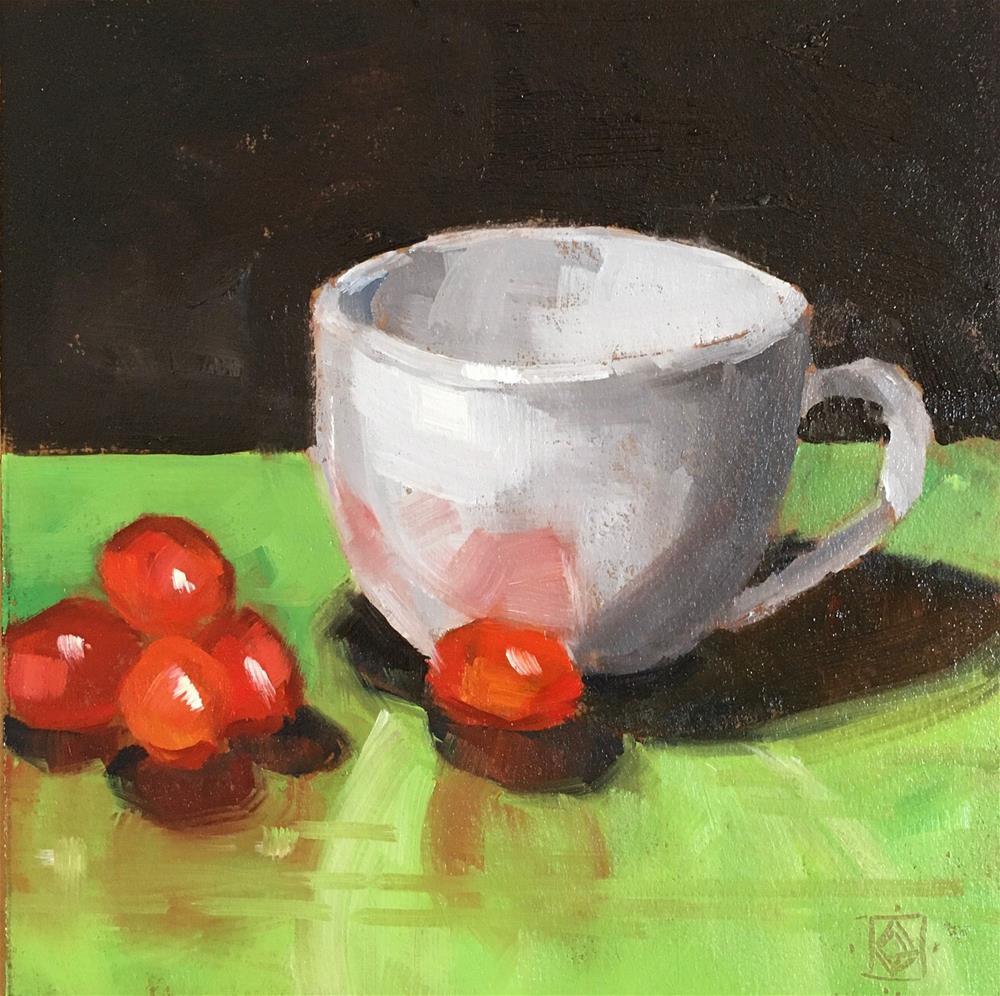 """Little Red Gems"" original fine art by Carol Granger"