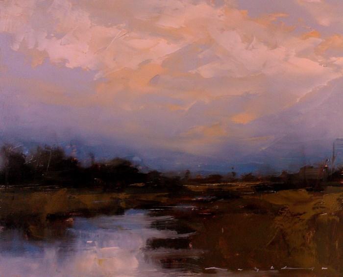 """Landscape_LS18"" original fine art by Angel Angelov"