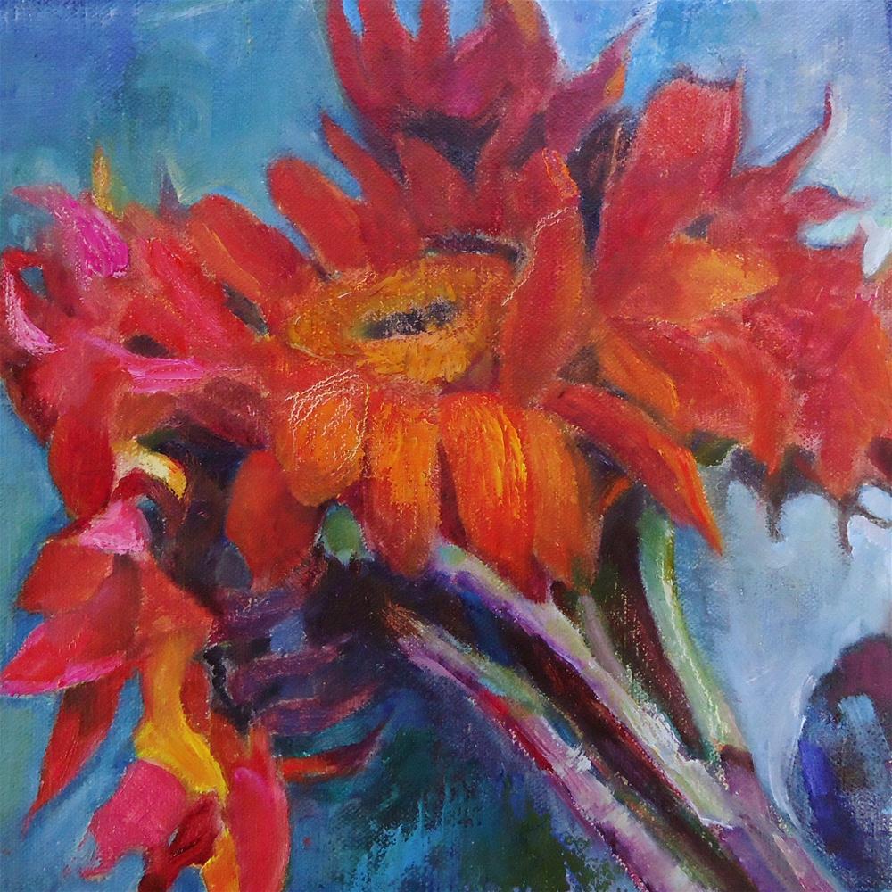 """""""Primary Petals"""" original fine art by Scarlet Owl Studio"""