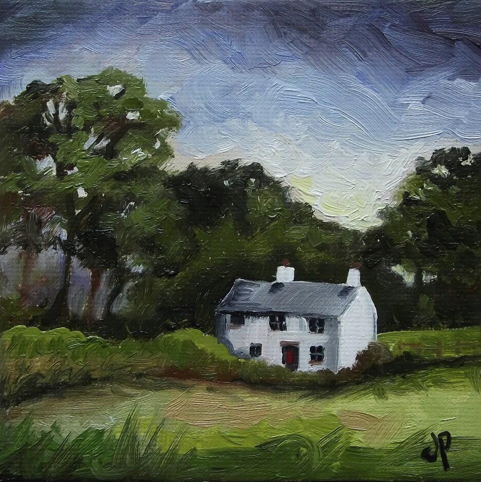 """""""Welsh Cottage"""" original fine art by Jane Palmer"""