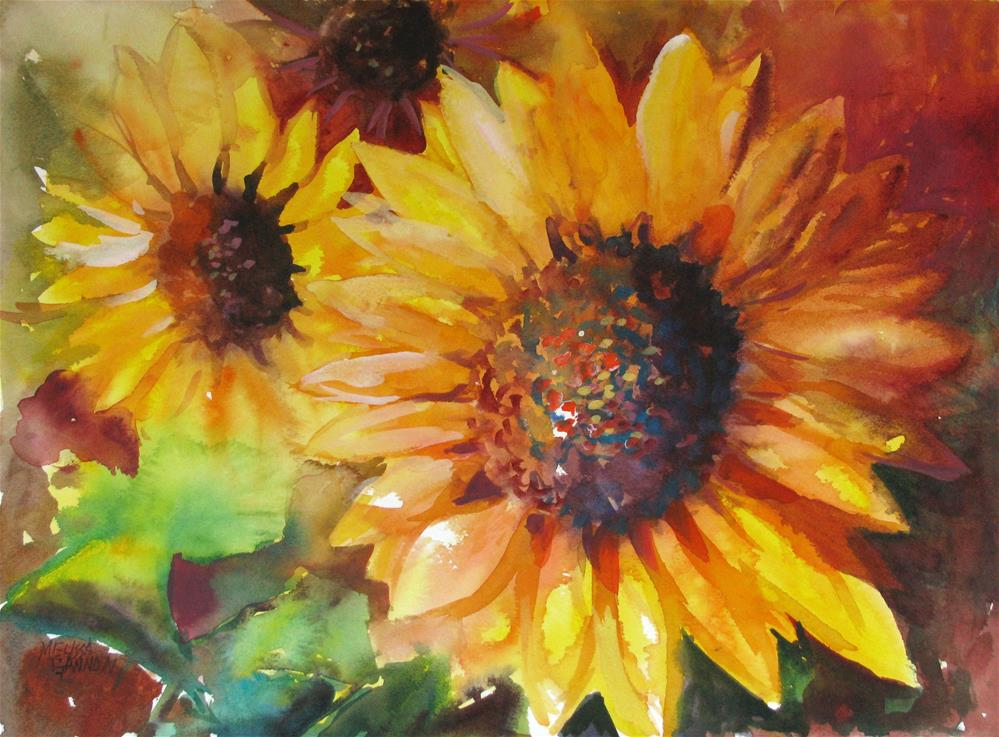 """""""Sunflower Allegro"""" original fine art by Melissa Gannon"""