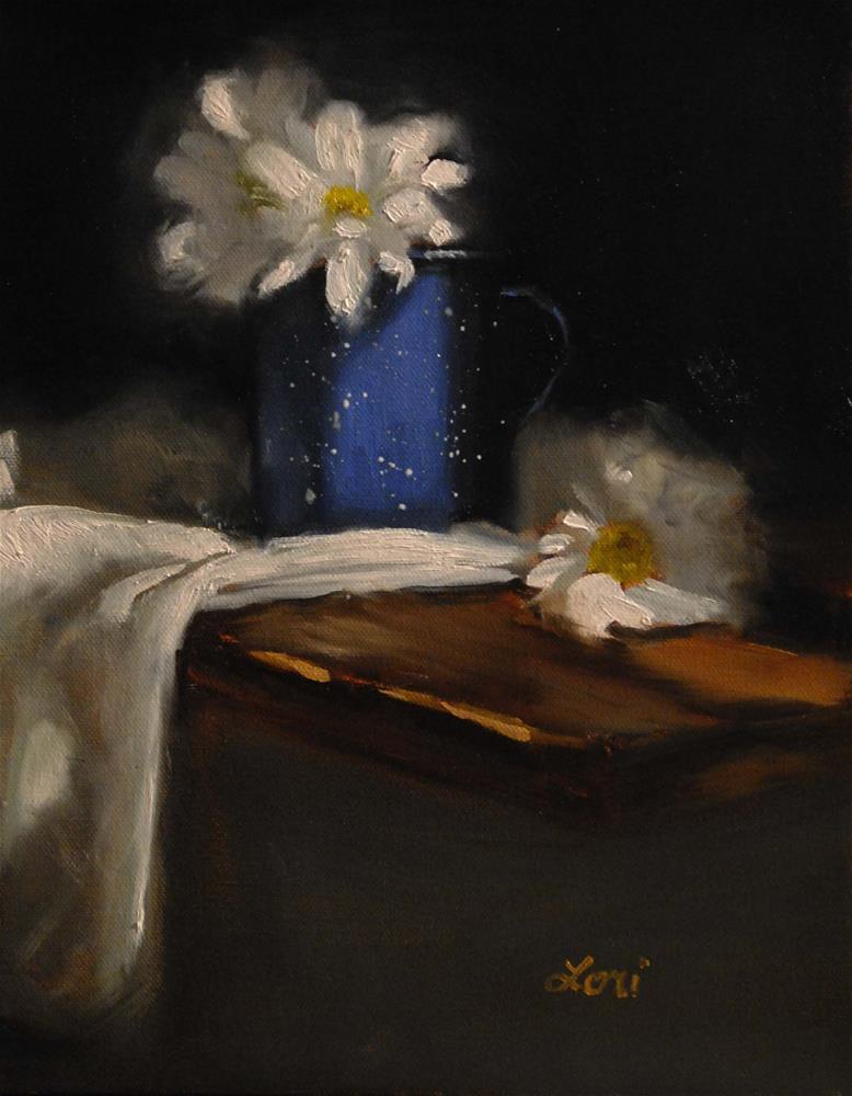 """His Tin Cup"" original fine art by Lori Jacobs - Farist"