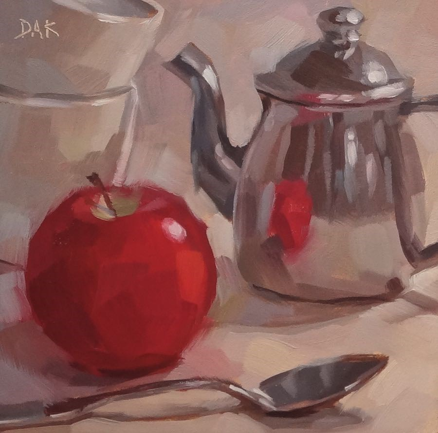 """Temptation Tea"" original fine art by Deborah Ann Kirkeeide"