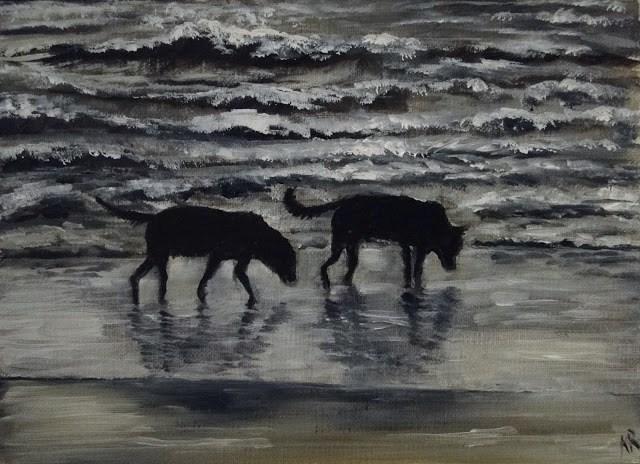 """Last Walk Before Bed"" original fine art by Karen Robinson"