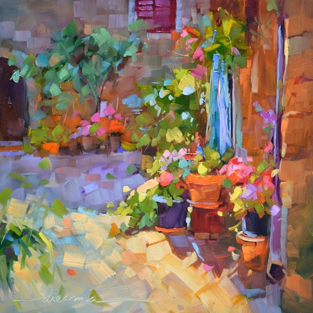 """""""Tuscany in Bloom and Gratitude"""" original fine art by Dreama Tolle Perry"""