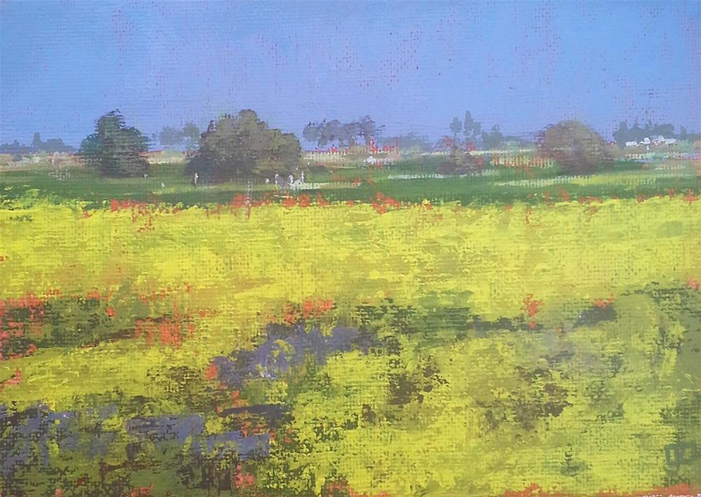 """Field Of Yellow"" original fine art by Leanne Owen"