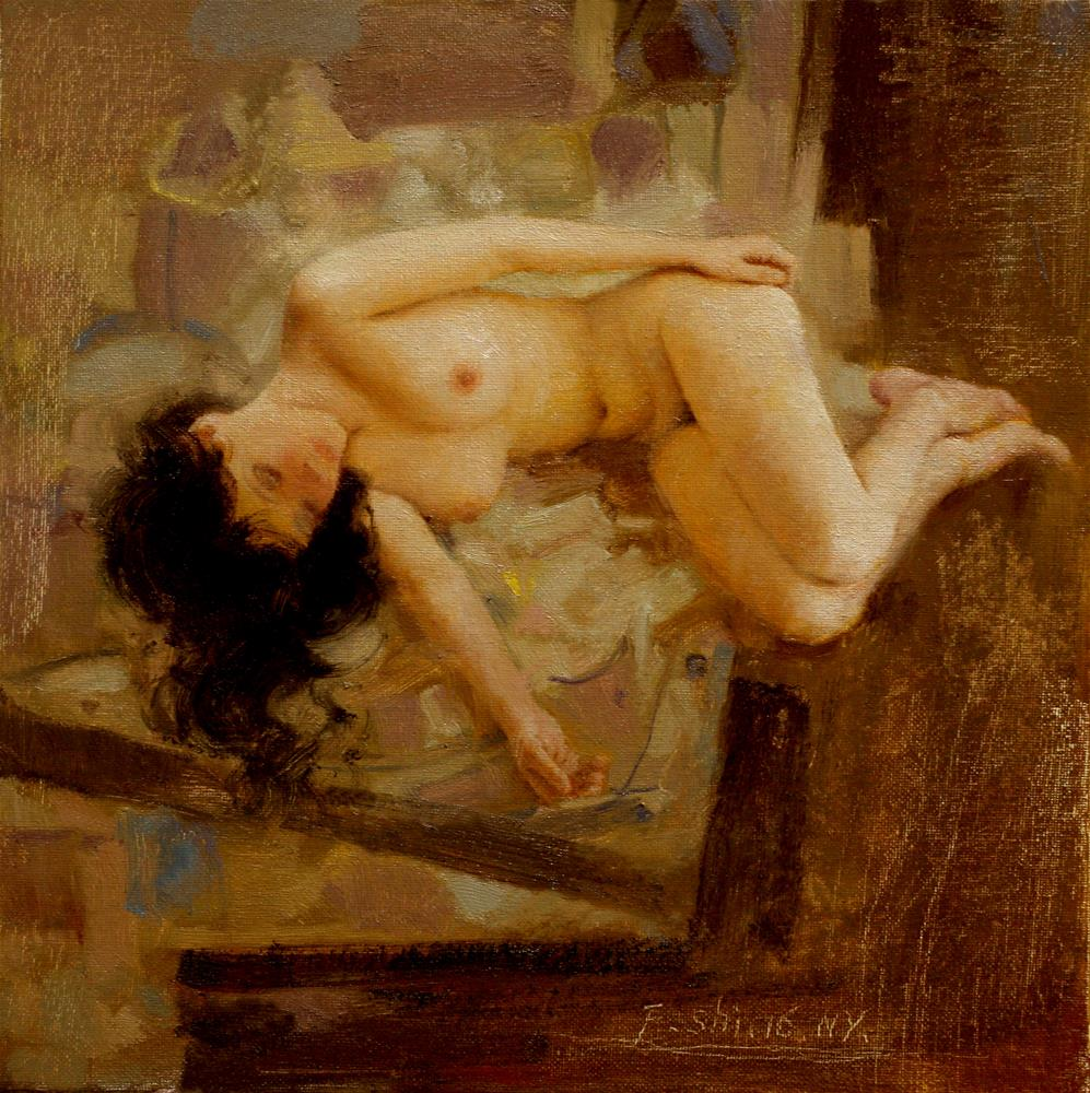 """Human body oil painting(1)"" original fine art by fengshi jin"