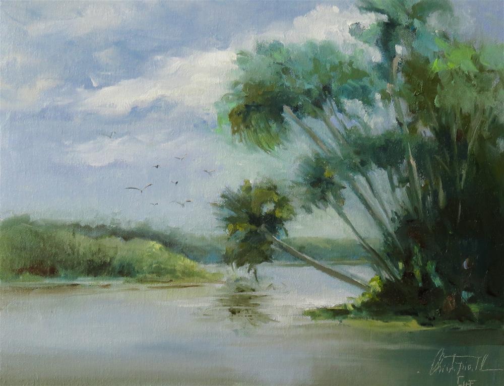 """at the NAV-A-Gator"" original fine art by Christa Friedl"
