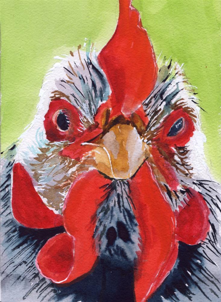 """Mad Hen"" original fine art by Bunny Griffeth"