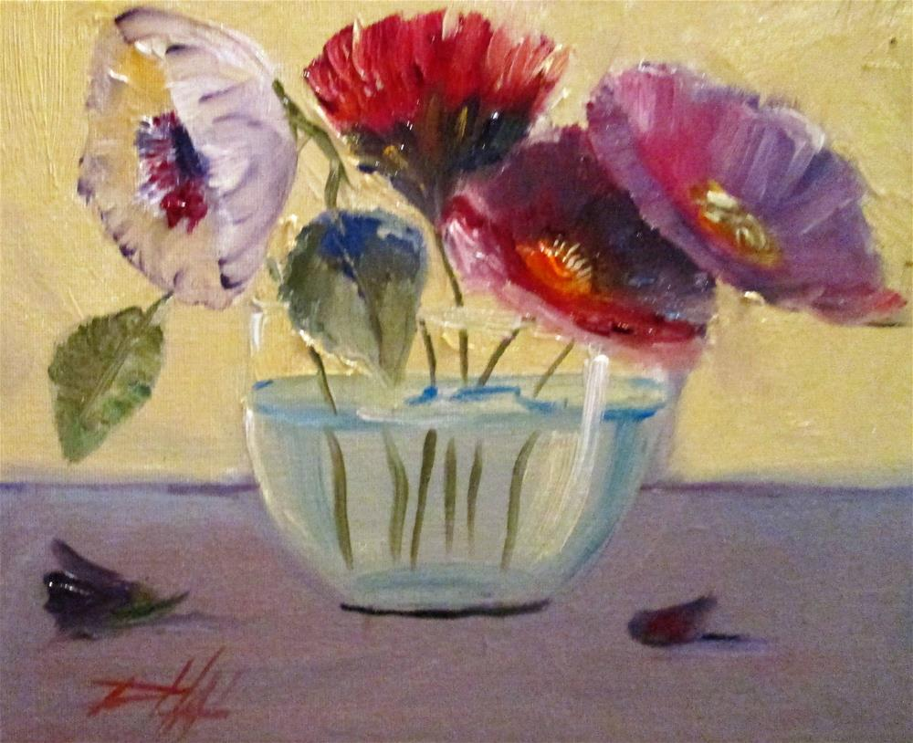 """Flowers in Water"" original fine art by Delilah Smith"