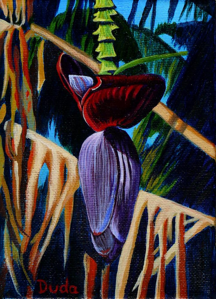 """Banana Flower"" original fine art by Susan Duda"