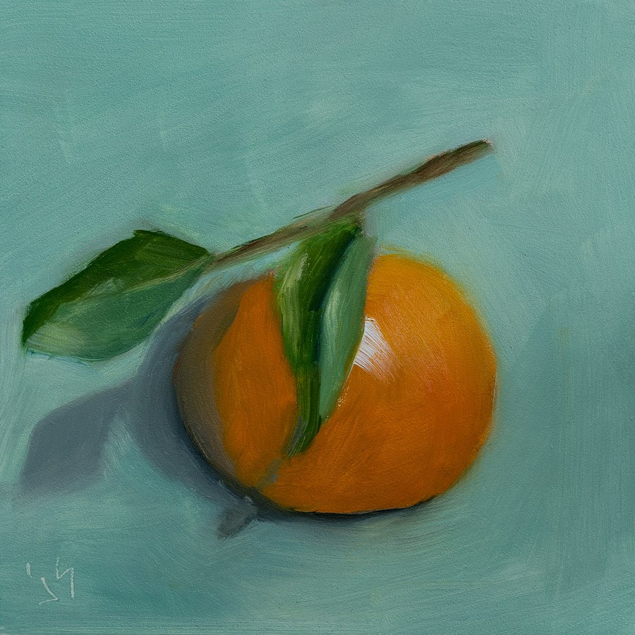 """Mandarin Selfie"" original fine art by Johnna Schelling"