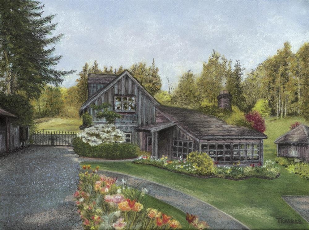 """Honeymoon Cottage"" original fine art by Christina Karras"
