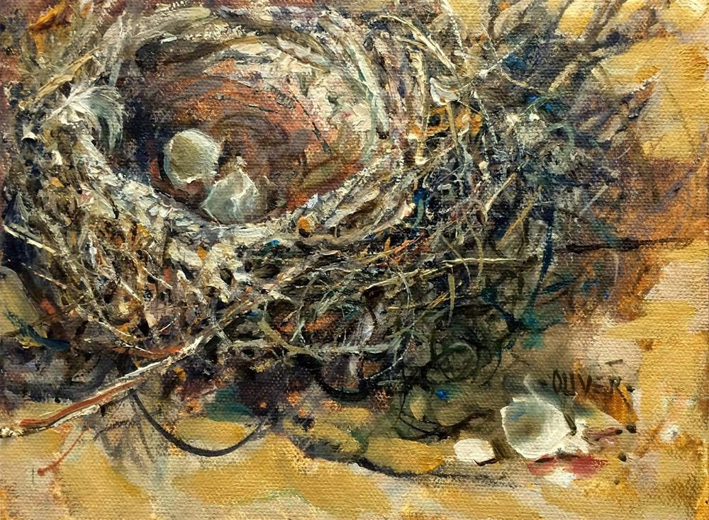 """Left the Nest"" original fine art by Julie Ford Oliver"