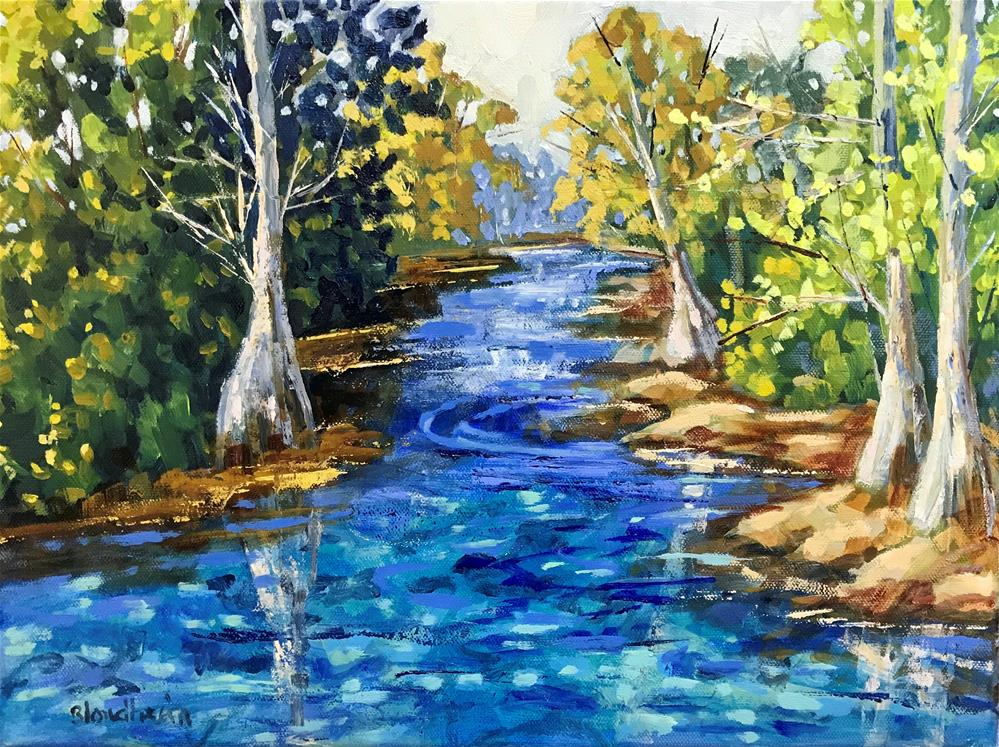 """Aucilla River"" original fine art by Linda Blondheim"