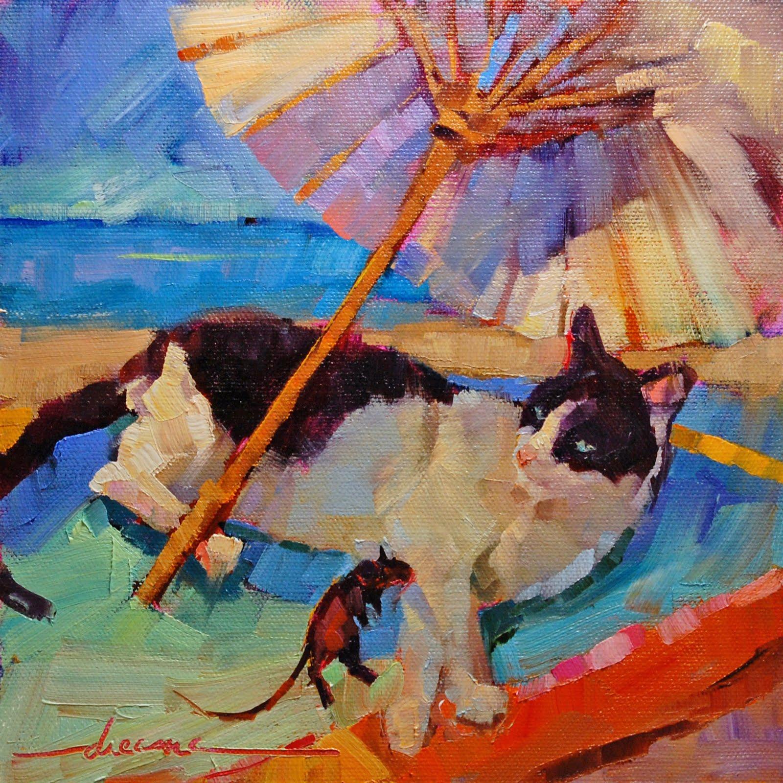 """Surf, Sun and Shrimp Coladas  SOLD"" original fine art by Dreama Tolle Perry"